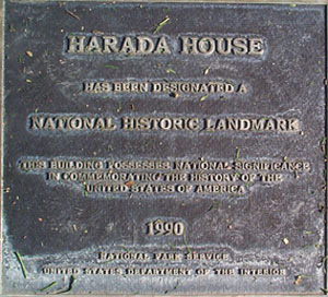 HaradaHouse_plaque2